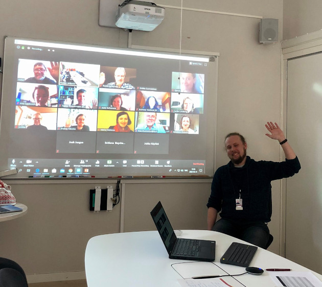Online meeting hosted from Uppsala, with 22 participants.
