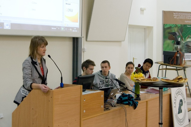 Presenting at the students' parliament session 2013