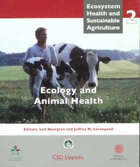 Book cover, Ecology and Animal Health
